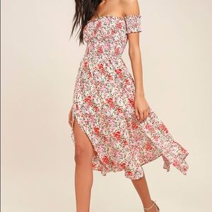 View from the Meadow Floral Off-the-Shoulder Dress